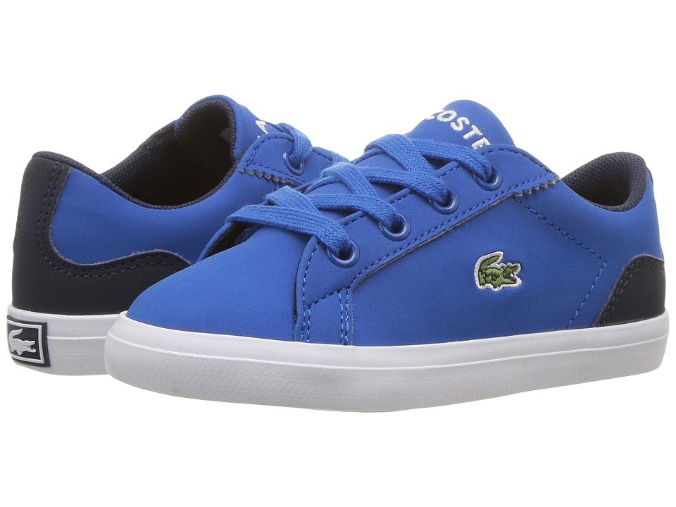 Lacoste Kids Lerond 417 1 (Toddler/Little Kid) (Blue) Kid's Shoes