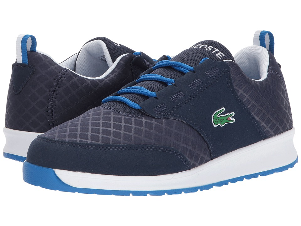 Lacoste Kids L.ight 417 1 (Little Kid/Big Kid) (Navy) Kid's Shoes