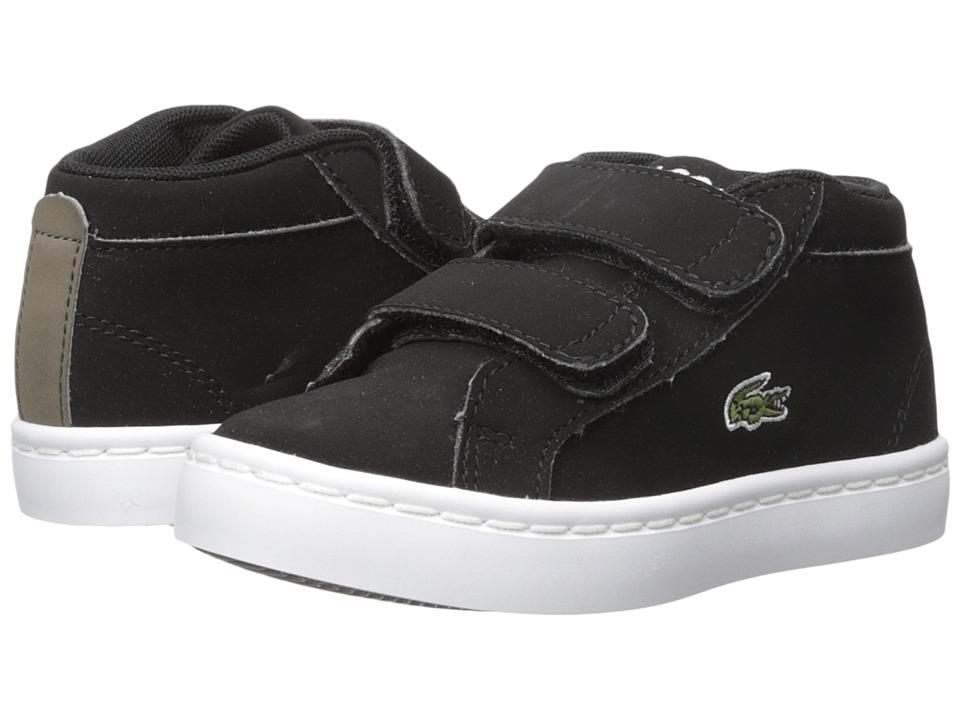 Lacoste Kids - Straightset Chukka 417 1 (Toddler/Little Kid) (Black) Kids Shoes