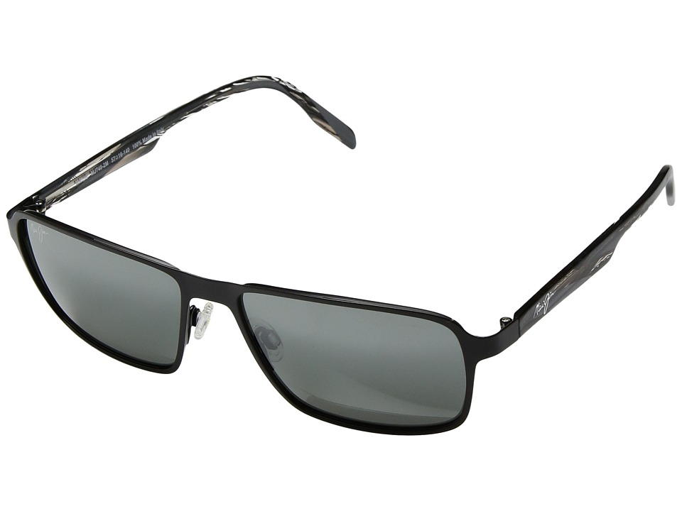 Maui Jim - Glass Beach (Matte Black/Neutral Grey) Athletic Performance Sport Sunglasses