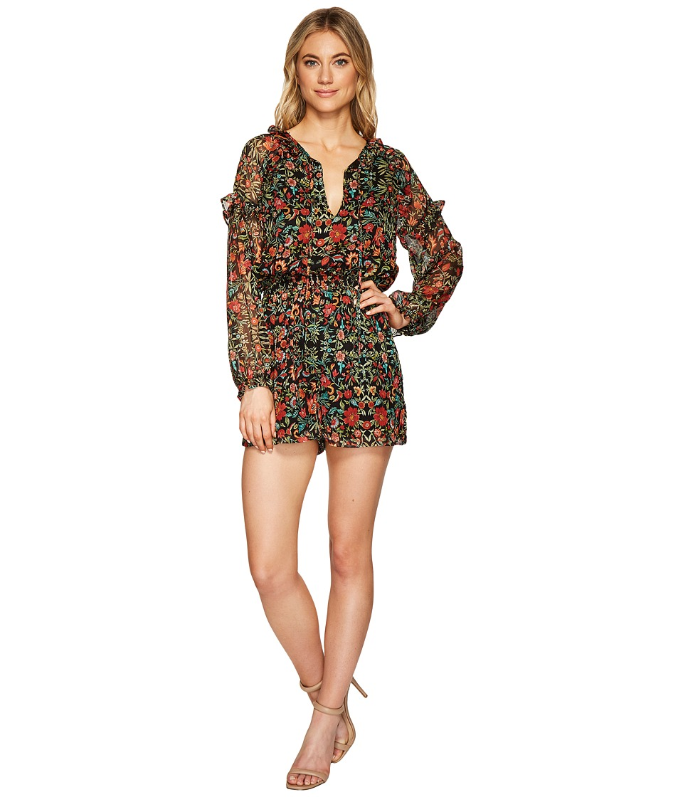 Adelyn Rae - Portia Romper (Black/Green) Womens Jumpsuit & Rompers One Piece