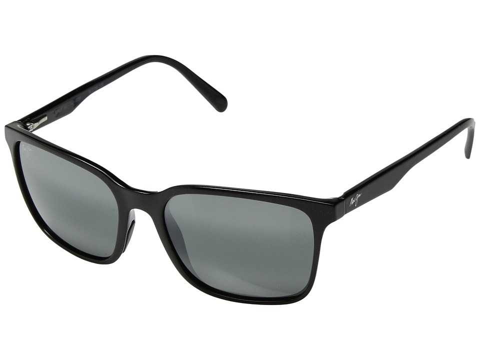 Maui Jim - Wild Coast (Midnight Black/Neutral Grey) Athletic Performance Sport Sunglasses