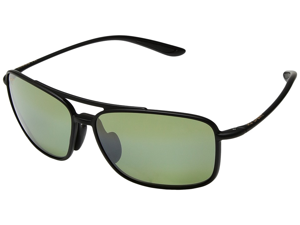 Maui Jim - Kaupo Gap (Matte Black/Maui HT) Athletic Performance Sport Sunglasses