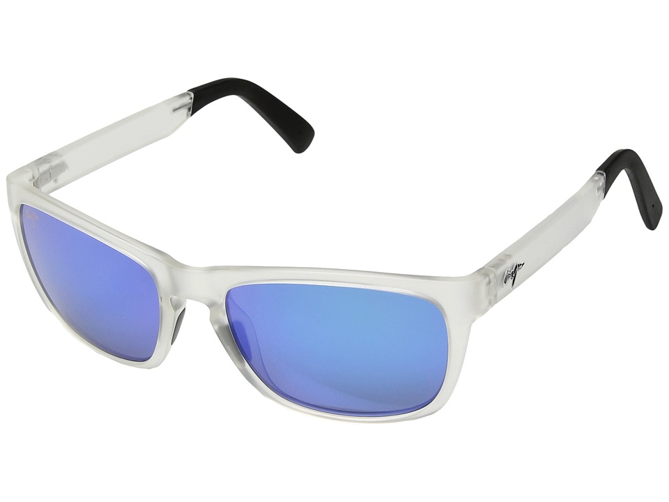 Maui Jim South Swell (Frosted Crystal/Blue Hawaii) Athletic Performance Sport Sunglasses