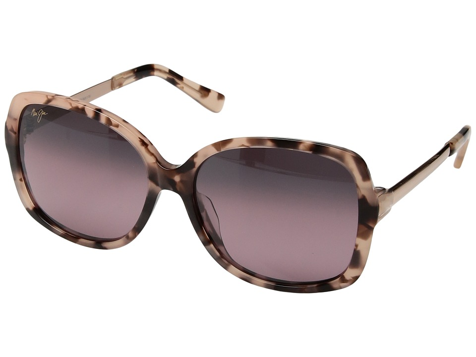 Maui Jim - Melika (Pink Tortoise/Rose Gold Temples/Maui Rose) Athletic Performance Sport Sunglasses