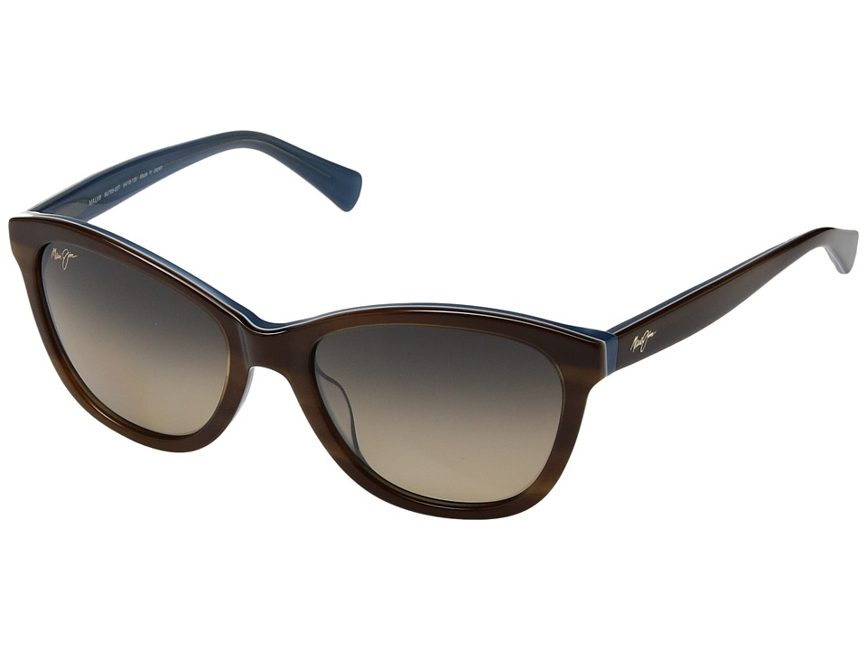 Maui Jim - Canna (Tortoise/White/Blue) Athletic Performance Sport Sunglasses