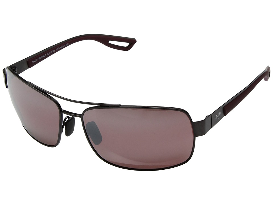 Maui Jim - Ola (Brushed Black Gold/Burgundy Rubber/Maui Rose) Athletic Performance Sport Sunglasses
