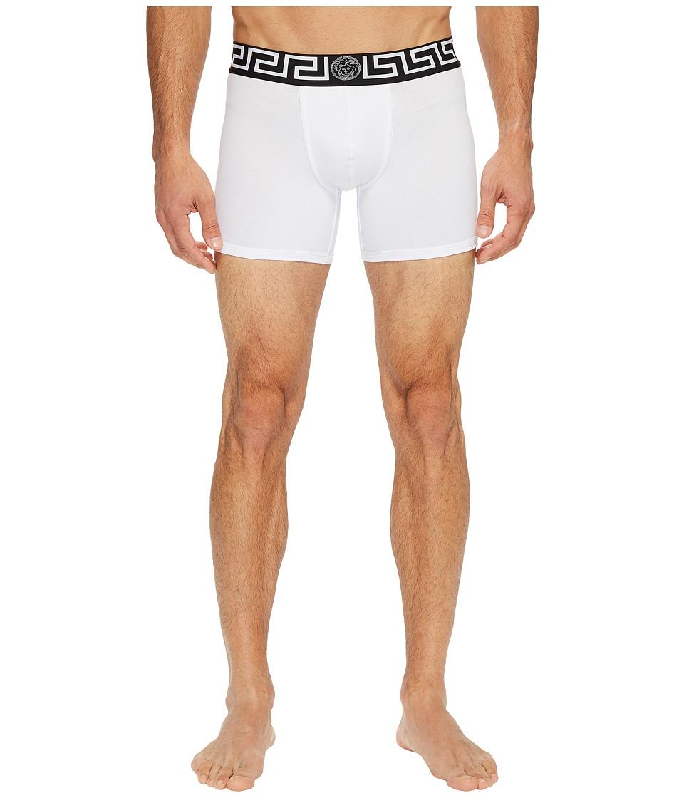 Versace Iconic Long Trunks (White/Black) Men