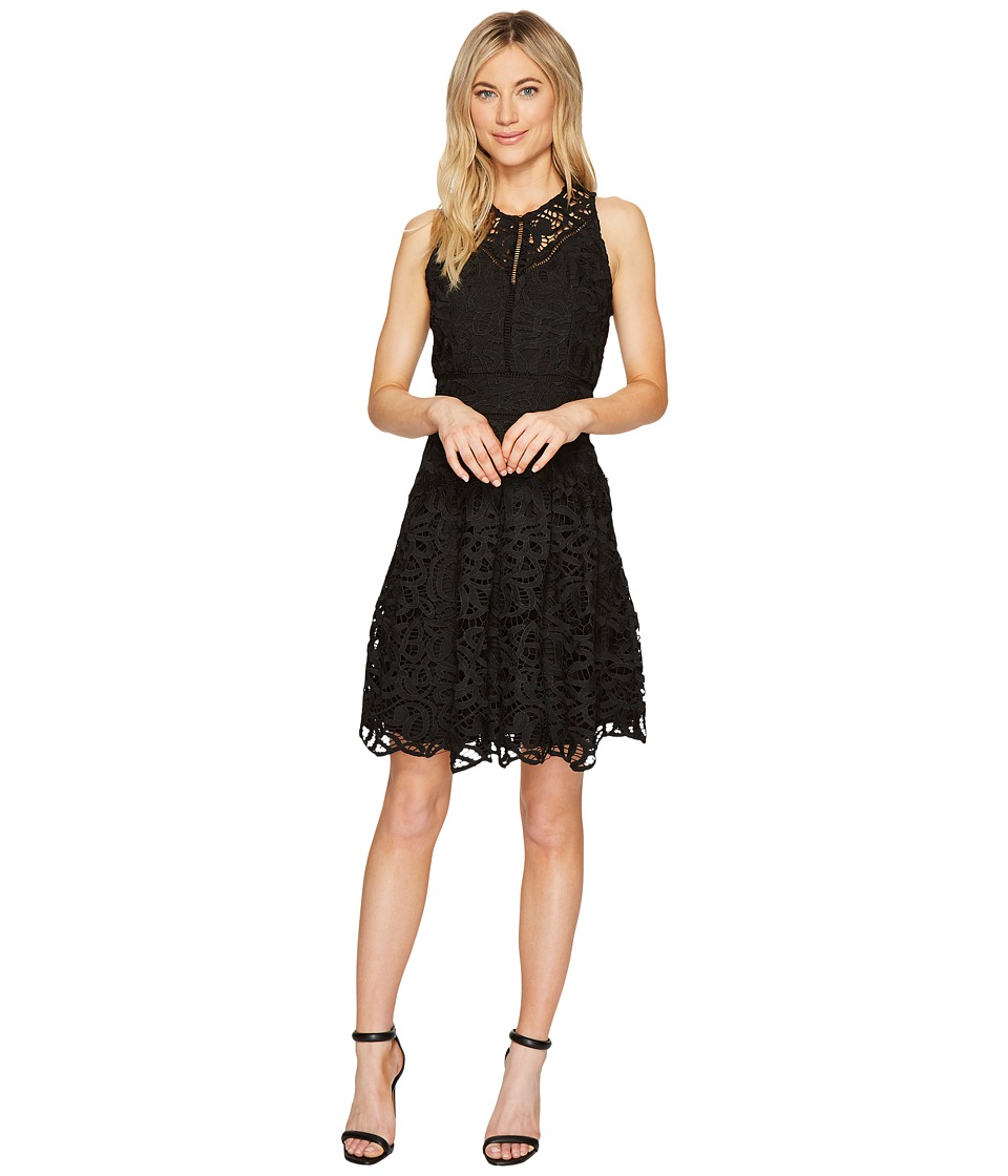 Adelyn Rae Dylan Fit and Flare Dress (Black) Women