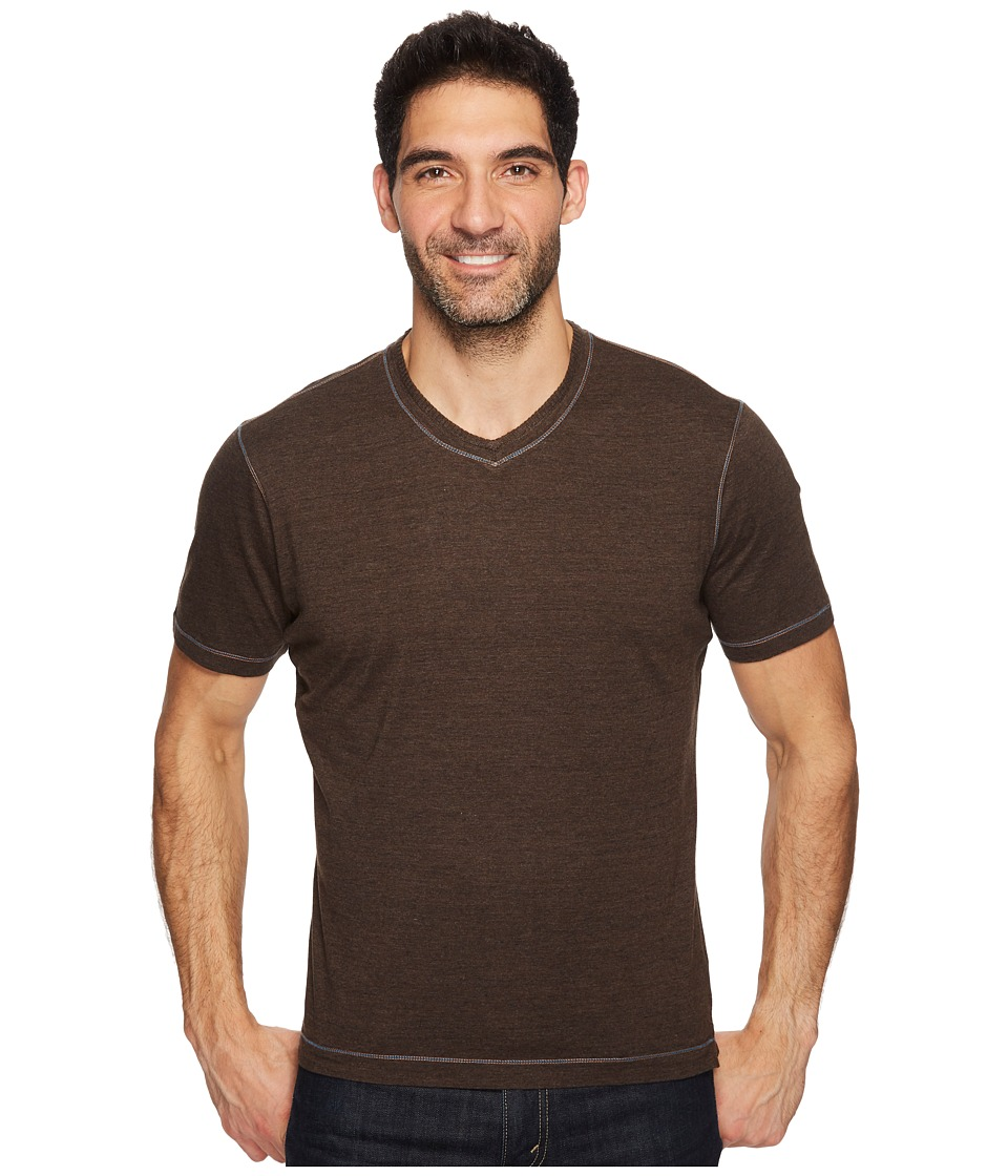 Robert Graham Traveler Tee (Heather Brown) Men