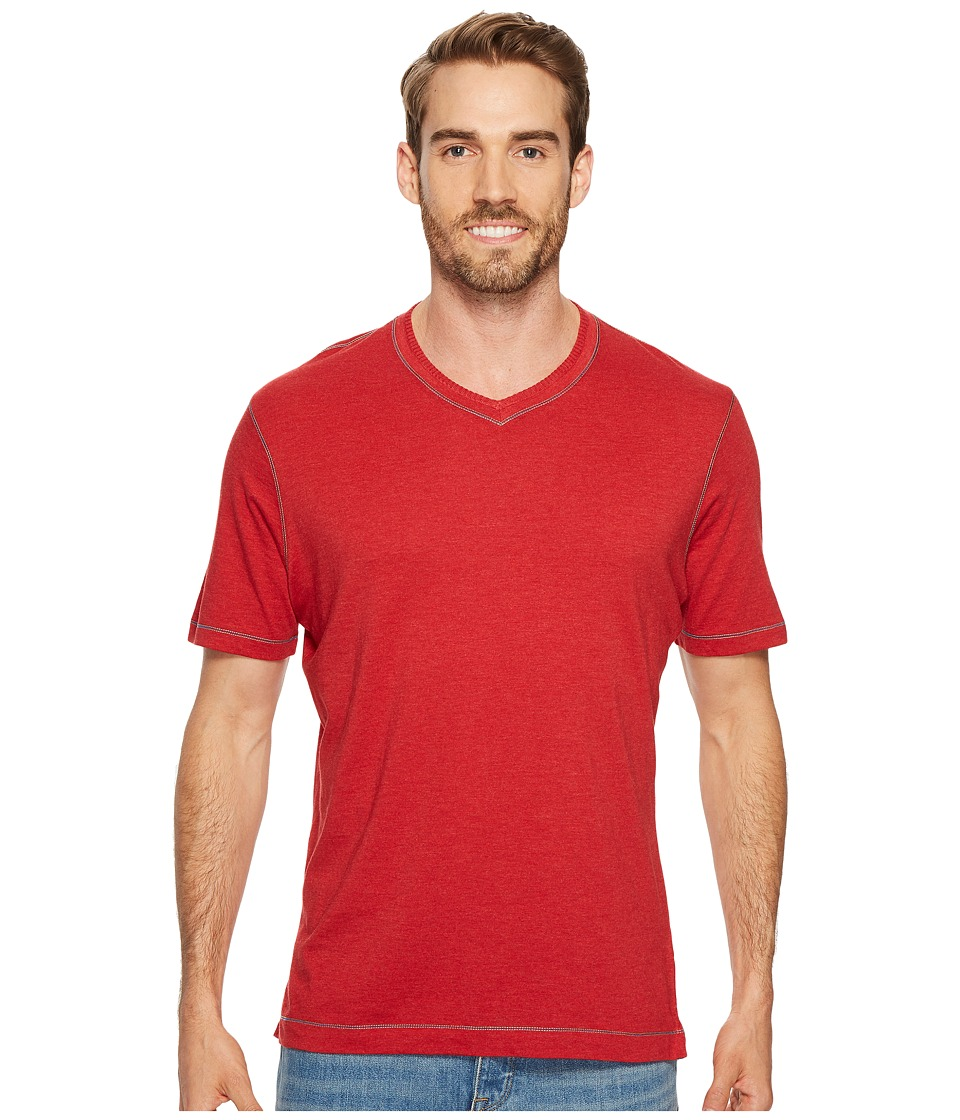 Robert Graham Traveler Tee (Heather Red) Men