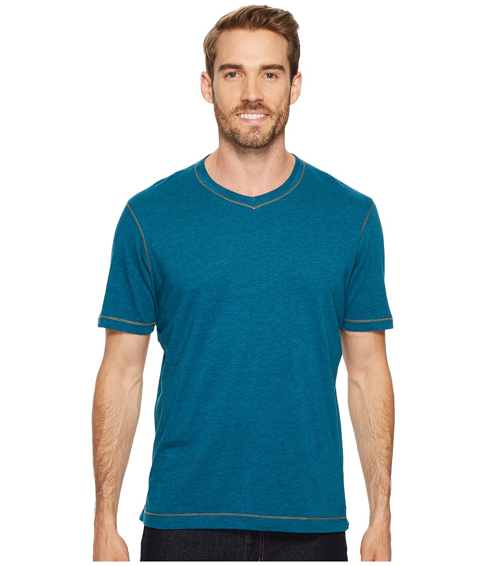 Robert Graham Traveler Tee (Heather Dark Teal) Men