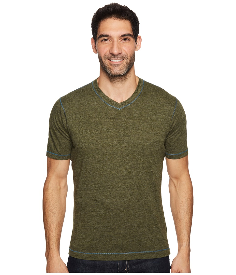 Robert Graham Traveler Tee (Heather Olive) Men