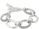 LAUREN Ralph Lauren 7.5 Inches Large Oval Pave Metal Links Bracelet