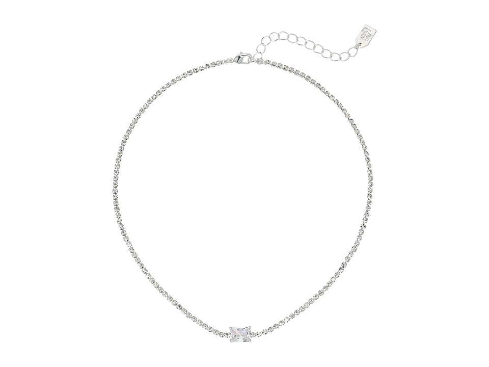 LAUREN Ralph Lauren - 12.5 Inches Stone Choker Necklace (Silver/Crystal) Necklace