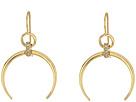 LAUREN Ralph Lauren Gold and Pave Horn Drop Earrings