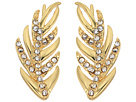 LAUREN Ralph Lauren Gold Pave Feather Climber Earrings