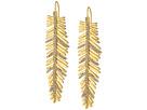 LAUREN Ralph Lauren Pave Linear Feather Earrings