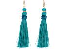 LAUREN Ralph Lauren Turquoise and Pave Threaded Tassel Earrings