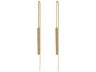 LAUREN Ralph Lauren Gold and Pave Bar Threader Earrings