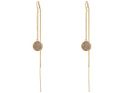 LAUREN Ralph Lauren Gold and Pave Disc Threader Earrings