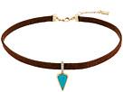 LAUREN Ralph Lauren 13 Inches Suede with Turquoise Drop Choker Necklace