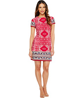 London Times - Moroccan Palace Short Sleeve Shift Dress