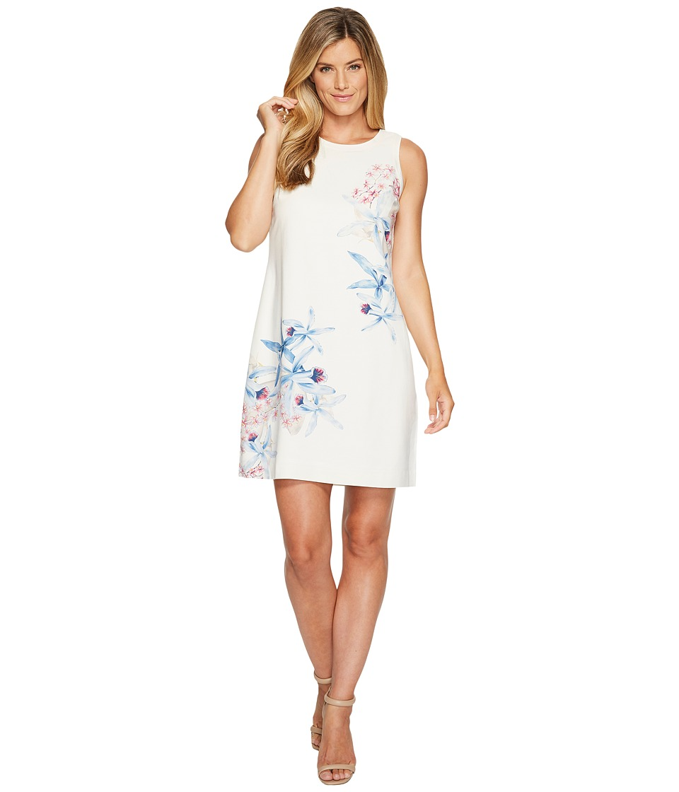 Tommy Bahama Orchid You Not Shift Dress (French Creme) Women