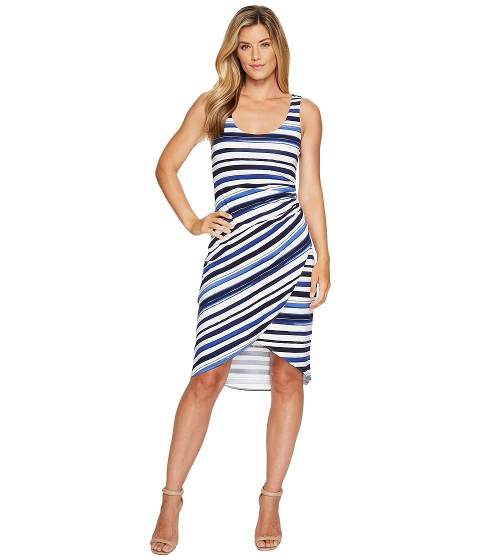 Tommy Bahama Aquarelle Stripe Sleeveless Midi Dress (Eclipse) Women