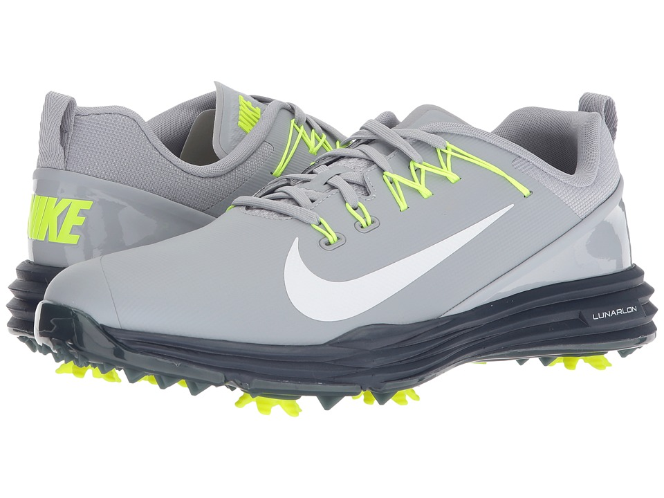 Nike Golf - Lunar Command 2 (Wolf Grey/White/Thunder Blue/Volt) Mens Golf Shoes