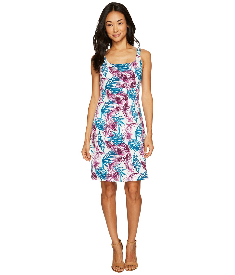 Tommy Bahama Fronds of A Feather Tank Dress (French Creme) Women
