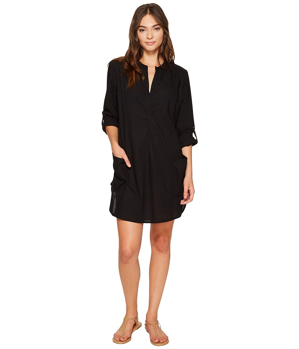 Seafolly Boyfriend Beach Shirt (Black) Women