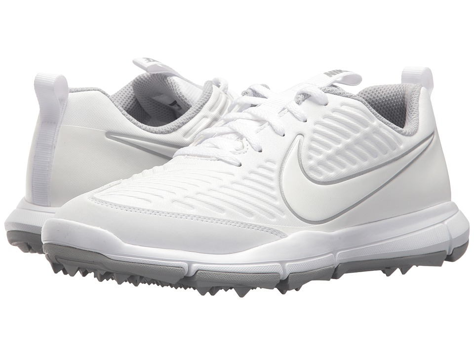 Nike Golf Explorer 2 (White/White/Wolf Grey/Metallic Silver) Women's Shoes