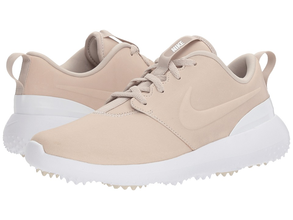 Nike Golf Roshe G PRM (Light Bone/Light Bone/White) Women's Golf Shoes