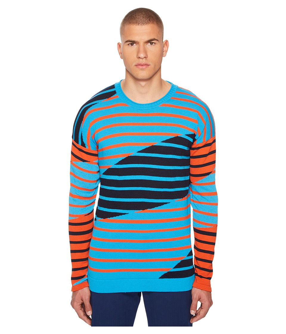 Missoni - Intarsia Sweater (Aqua) Mens Sweater