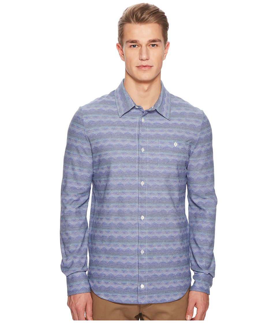 Missoni - Jersey Denim Zigzag Button Up Shirt (Blue) Mens Clothing