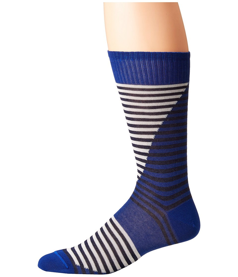 Missoni - Intarsia Socks (Blue) Mens Crew Cut Socks Shoes