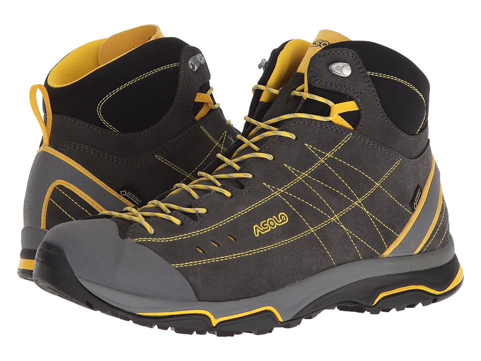 Asolo - Nucleon Mid GV MM (Graphite/Yellow) Mens Boots