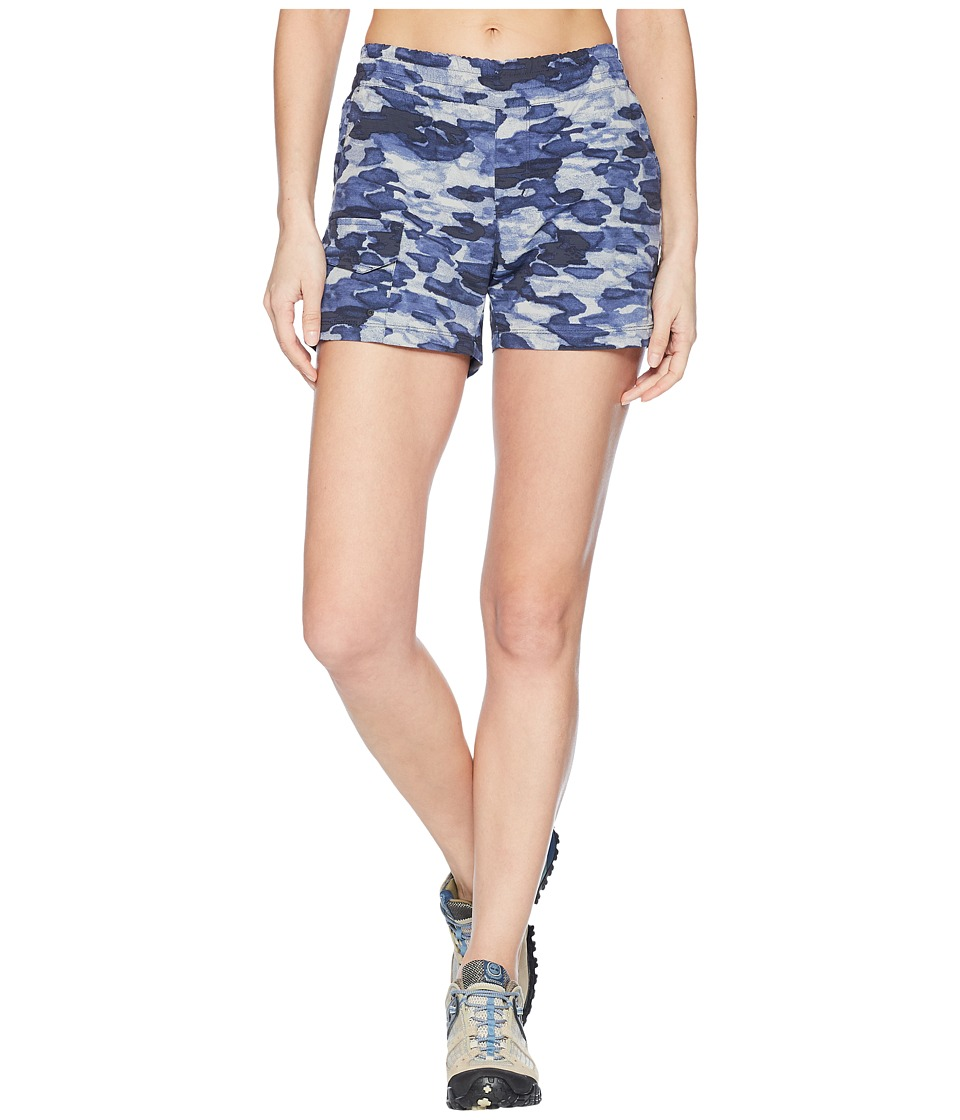 Columbia Silver Ridge Printed Pull-On Shorts (India Ink Camo Print) Women