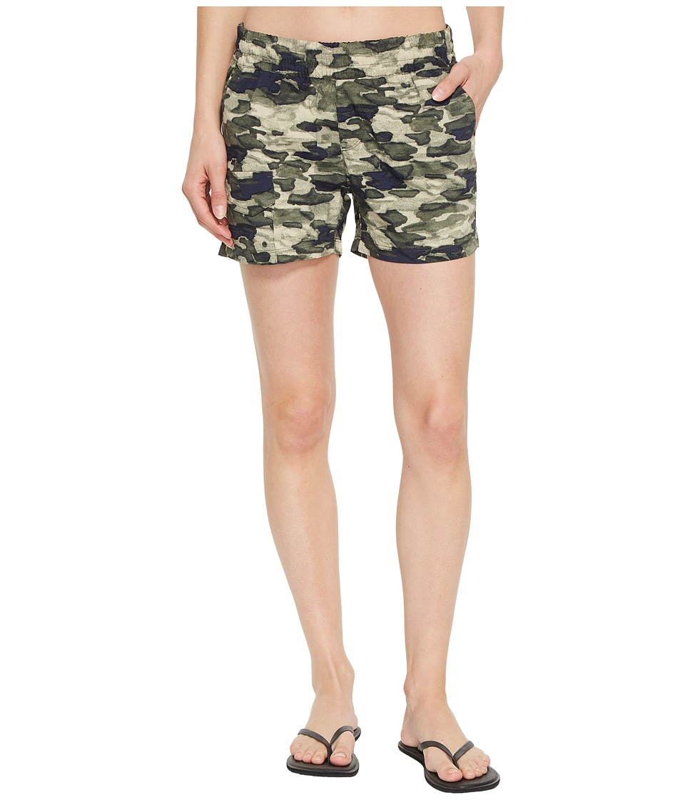Columbia Silver Ridge Printed Pull-On Shorts (Gravel Camo Print) Women