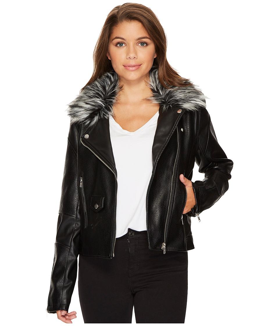 Members Only - Grey Fur Rocker Jacket