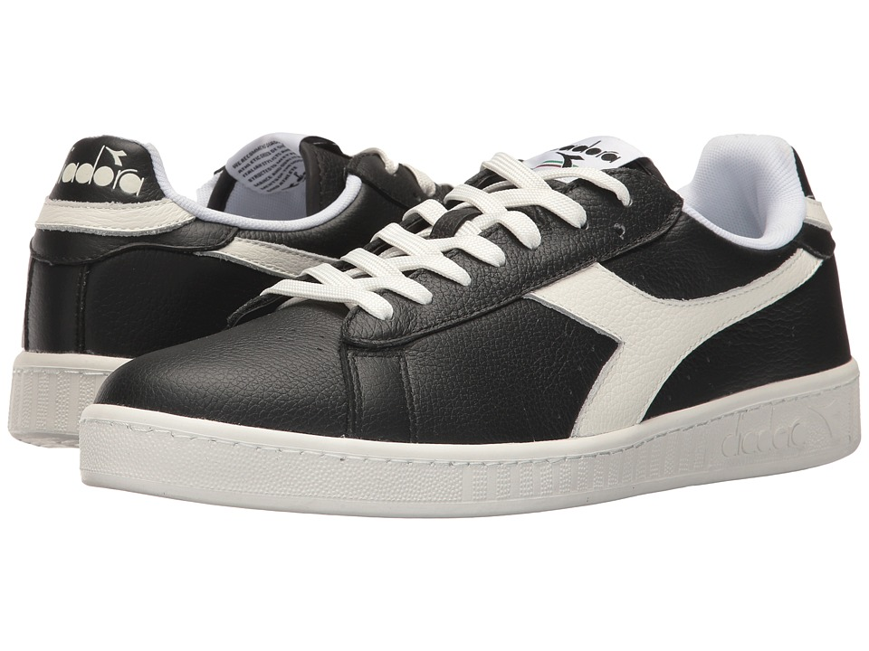 Diadora Game L Low Waxed (Black/White/Black) Athletic Shoes