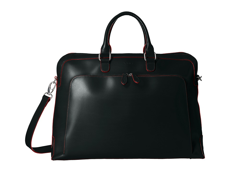 Lodis Accessories - Audrey RFID Brera Briefcase With Laptop Pocket (Black RFID) Briefcase Bags