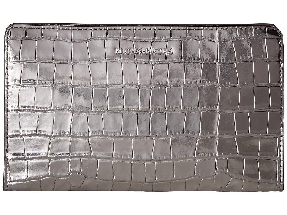 MICHAEL Michael Kors Large Crossbody Clutch (Gunmetal) Clutch Handbags