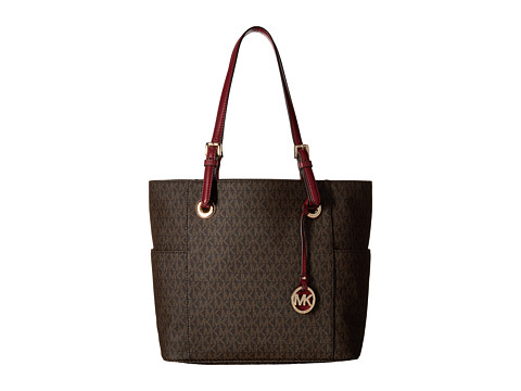MICHAEL Michael Kors Jet Set Item East/West Signature Tote - Brown/Mulberry