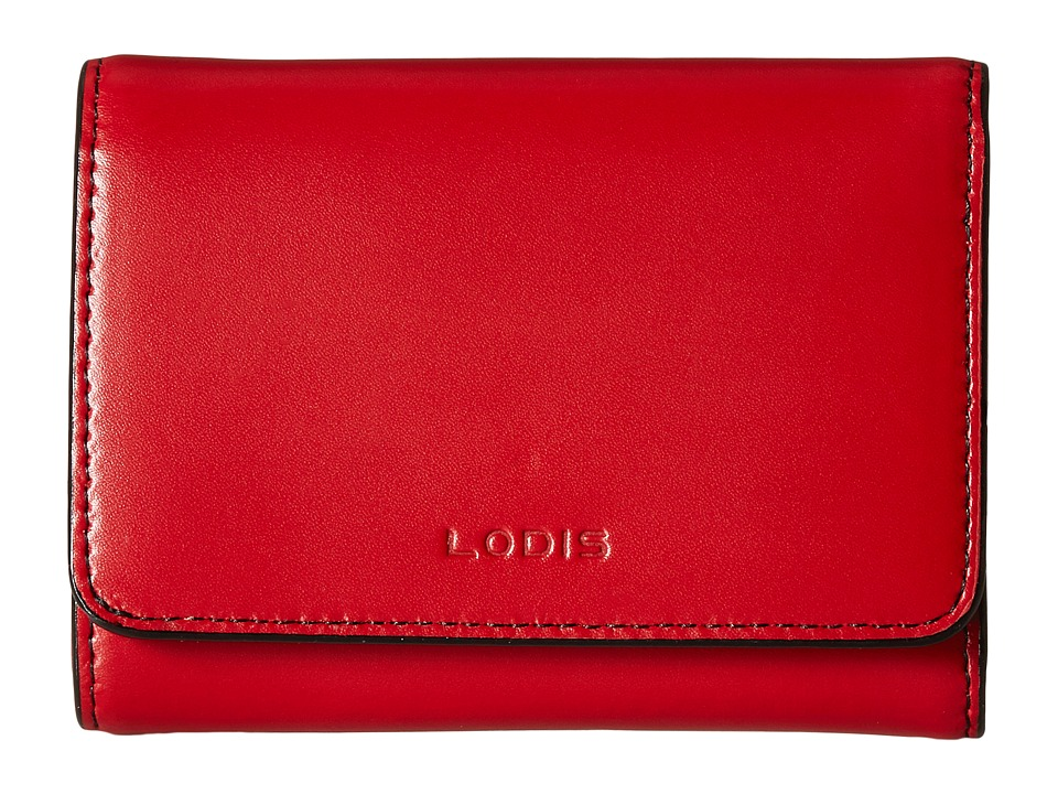 Lodis Accessories - Audrey RFID Mallory French Purse (Red RFID) Wallet Handbags