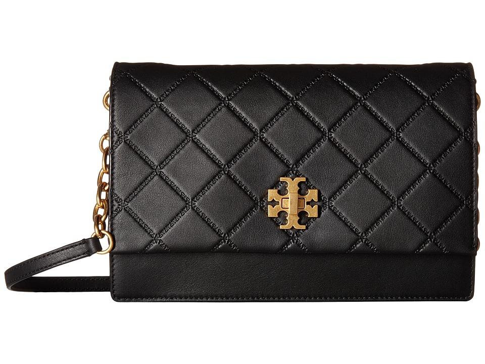 Tory Burch Georgia Crossbody (Black) Shoulder Handbags