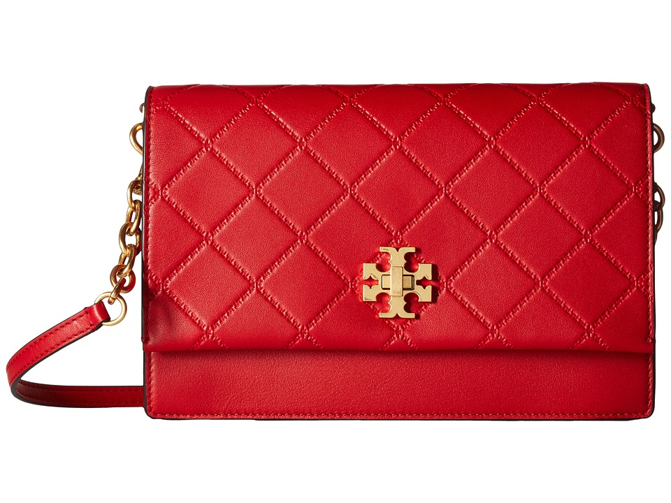 Tory Burch Georgia Crossbody (Liberty Red) Shoulder Handbags