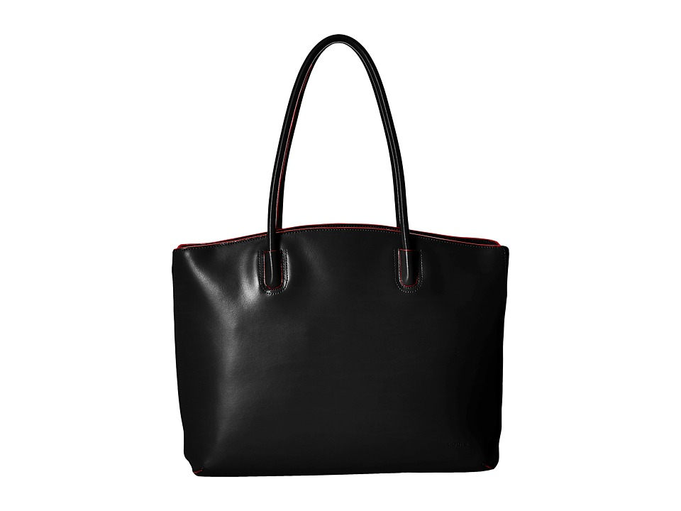 Lodis Accessories - Audrey RFID Milano Tote With Laptop Pocket (Black RFID) Tote Handbags