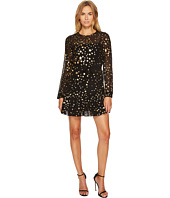 RED VALENTINO - Lame' Stars Print, Silk Georgette Dress